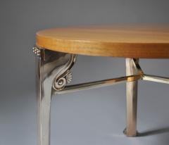 T H Robsjohn Gibbings WALNUT TABLE WITH BRONZE LEGS DESGINED BY T H ROBSJOHN GIBBINGS - 1189721