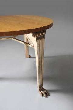 T H Robsjohn Gibbings WALNUT TABLE WITH BRONZE LEGS DESGINED BY T H ROBSJOHN GIBBINGS - 1189722