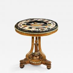 T Seddon English Antique Regency Period Centre Circular Table With Grand Tour Marble Top - 1145713