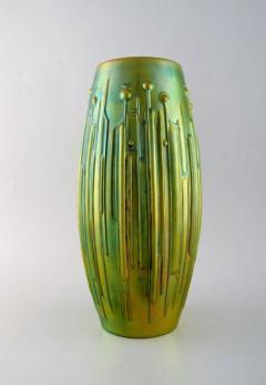 T r k J nos Large modernist vase in glazed ceramics - 1421516