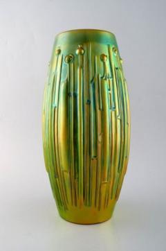 T r k J nos Large modernist vase in glazed ceramics - 1421518