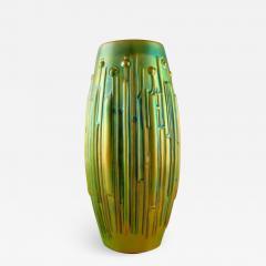 T r k J nos Large modernist vase in glazed ceramics - 1422236