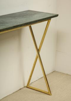 TALL CONSOLE TABLE WITH MARBLE TOP - 1629474