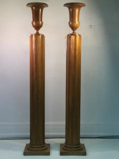 TH Robsjohn Gibbings Extraordinary and Rare Pair of TH Robsjohn Gibbings Torchiere Lamps - 645458