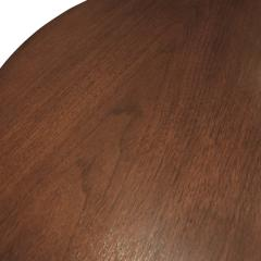 TH Robsjohn Gibbings Kidney Shaped Side Table in Walnut Attributed to T H Robsjohn Gibbings 1950s - 1052191