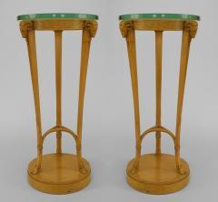 TH Robsjohn Gibbings Pair of American Art Moderne Sycamore Pedestals - 471119