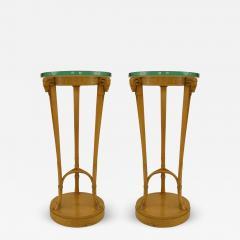 TH Robsjohn Gibbings Pair of American Art Moderne Sycamore Pedestals - 472000