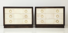 TH Robsjohn Gibbings Pair of Exquisite Parchment Dressers by T H Robsjohn Gibbings  - 820906
