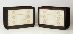 TH Robsjohn Gibbings Pair of Exquisite Parchment Dressers by T H Robsjohn Gibbings  - 820907