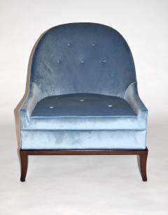 TH Robsjohn Gibbings Pair of Rare Slipper or Lounge Chairs by T H Robsjohn Gibbings for Widdicomb - 673134