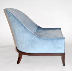 TH Robsjohn Gibbings Pair of Rare Slipper or Lounge Chairs by T H Robsjohn Gibbings for Widdicomb - 673135