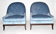 TH Robsjohn Gibbings Pair of Rare Slipper or Lounge Chairs by T H Robsjohn Gibbings for Widdicomb - 673138