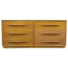TH Robsjohn Gibbings Rare T H Robsjohn Gibbings Bleached Walnut Dresser for Widdicomb - 266889
