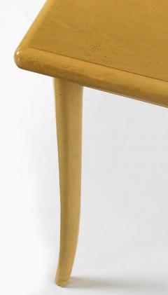 TH Robsjohn Gibbings T H Robsjohn Gibbings Bleached and Glazed Mahogany Saber Leg Dining Table - 717347