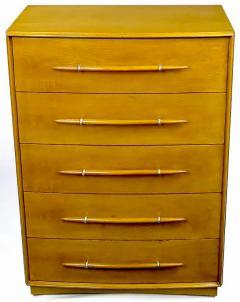 TH Robsjohn Gibbings T H Robsjohn Gibbings Tall Walnut Dresser for Widdicomb - 717395