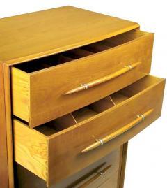 TH Robsjohn Gibbings T H Robsjohn Gibbings Tall Walnut Dresser for Widdicomb - 717398