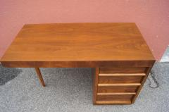 TH Robsjohn Gibbings Walnut Desk by T H Robsjohn Gibbings for Widdicomb - 1077123