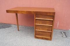 TH Robsjohn Gibbings Walnut Desk by T H Robsjohn Gibbings for Widdicomb - 1077125