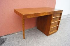 TH Robsjohn Gibbings Walnut Desk by T H Robsjohn Gibbings for Widdicomb - 1077129