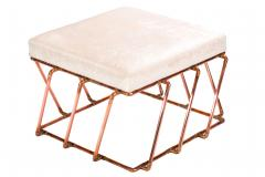 TJ Volonis Aperture Ottoman in Copper by TJ Volonis - 213191