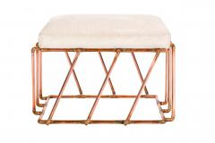 TJ Volonis Aperture Ottoman in Copper by TJ Volonis - 213192