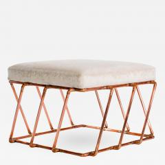 TJ Volonis Aperture Ottoman in Copper by TJ Volonis - 213323