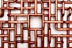 TJ Volonis Phosphoriglyph Wall Mounted Sculpture in Copper by TJ Volonis - 402397