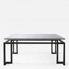 TRAVERTINE AND BRONZE TABLE - 1190098