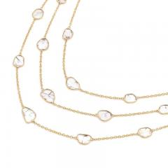 TRIPLE LAYER DIAMOND SLICES NECKLACE 18K YELLOW GOLD - 2077497