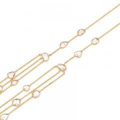 TRIPLE LAYER DIAMOND SLICES NECKLACE 18K YELLOW GOLD - 2077500