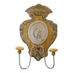 TUSCAN HAND PAINTED 2 LITE WALL SCONCES FROM SIENA ITALY - 797719