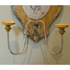 TUSCAN HAND PAINTED 2 LITE WALL SCONCES FROM SIENA ITALY - 797722