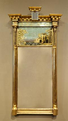 Tabernacle Form Mirror with Eglomise Panel - 1064795