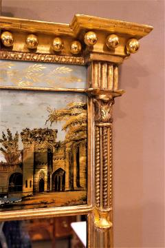 Tabernacle Form Mirror with Eglomise Panel - 1064797
