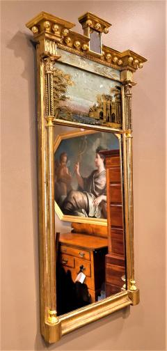 Tabernacle Form Mirror with Eglomise Panel - 1064801