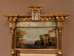 Tabernacle Form Mirror with Eglomise Panel - 1064805