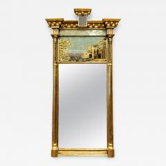 Tabernacle Form Mirror with Eglomise Panel - 1065887