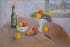 Table Top Still Life Oil Painting by Michael Lemmermeyer - 1165506
