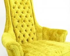 Tall Back Sinuous Lounge Chairs in Gold Crushed Velvet Circa 1960s - 203580