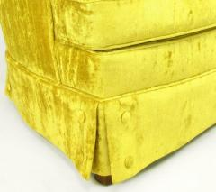 Tall Back Sinuous Lounge Chairs in Gold Crushed Velvet Circa 1960s - 203581