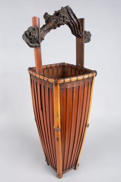 Tall Japanese Antique Ikebana Flower Arranging Basket  - 1499826