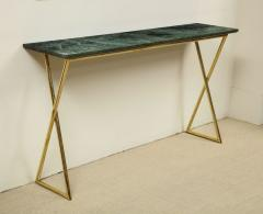 Tall console table with green marble top - 1165230