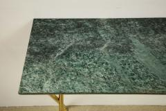 Tall console table with green marble top - 1165232