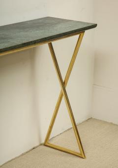 Tall console table with green marble top - 1165236