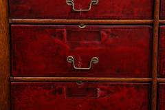 Tall oak cartonnier cabinet - 1388098