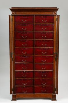 Tall oak cartonnier cabinet - 1388099