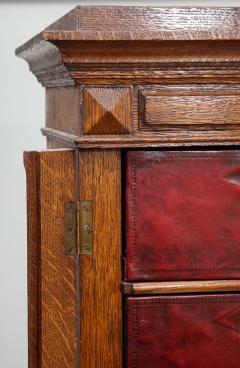Tall oak cartonnier cabinet - 1388100