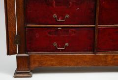 Tall oak cartonnier cabinet - 1388101
