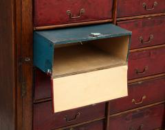 Tall oak cartonnier cabinet - 1388102