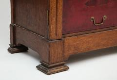 Tall oak cartonnier cabinet - 1388103